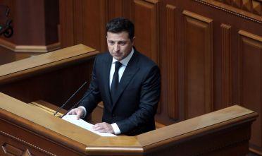 Il presidente dell'Ucraina Volodymyr Oleksandrovyč Zelens'kyj, giugno 2021. (Foto: Hennadii Minchenko/ Ukrinform/Barcroft Media via Getty Images)