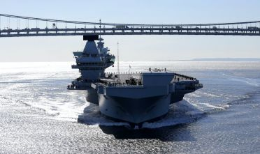 La portaerei britannica HMS Queen Elizabeth a New York, ottobre 2018 (Foto: Christopher Furlong/Getty Images).
