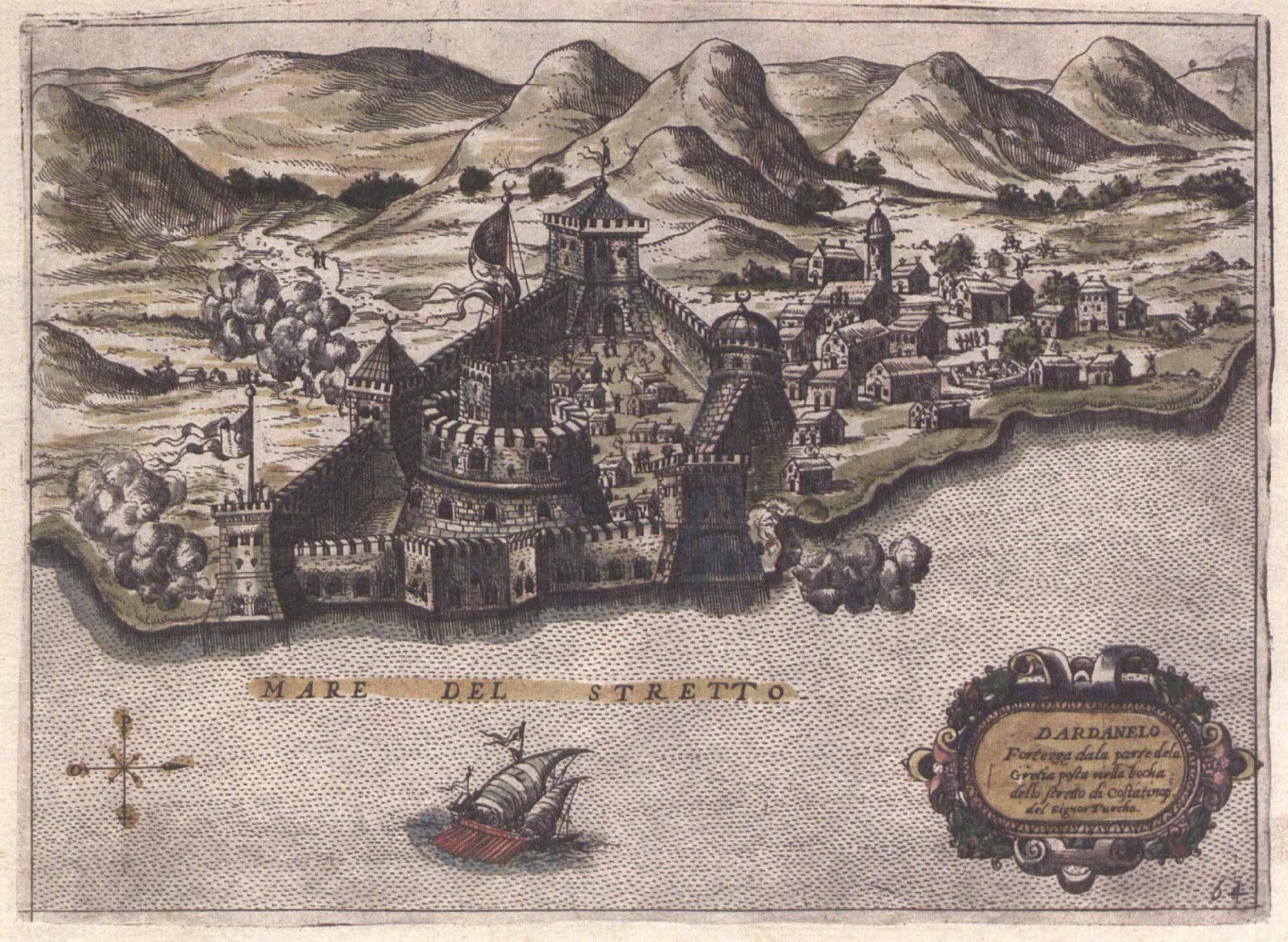 Fonte figura 2: «Stretto dei Dardanelli», da La Geografia a colpo d'occhio, Milano 1853, Corbetta.