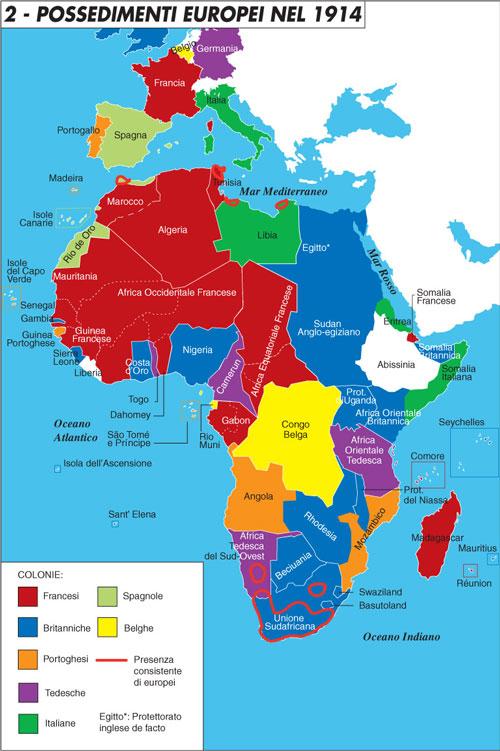 Gli europei in africa nel 1914