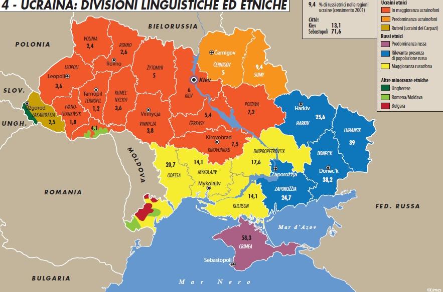 Cartina Geografica Russia Ucraina.Est Contro Ovest Il Falso Mito Delle Due Ucraine Limes