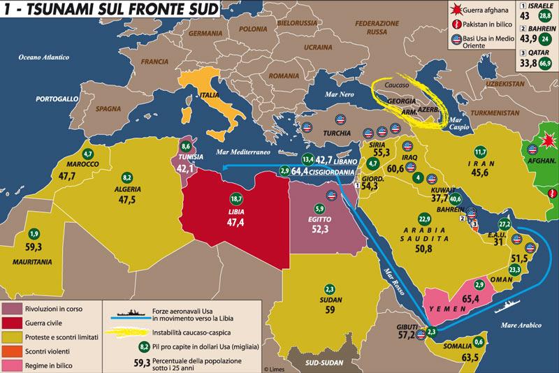 Cartina Geografica Dei Paesi Arabi.Tsunami Sul Fronte Sud Limes