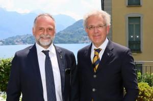 Il Ministro del Turismo Massimo Garavaglia (a sinistra) con il Presidente dell'ASI Alberto Scuro.