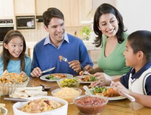 famiglia cena
