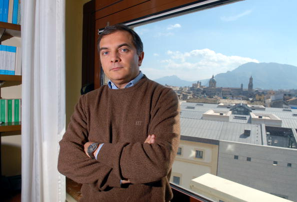 Maurizio De Lucia, Palermo prosecutor, poses in his office a