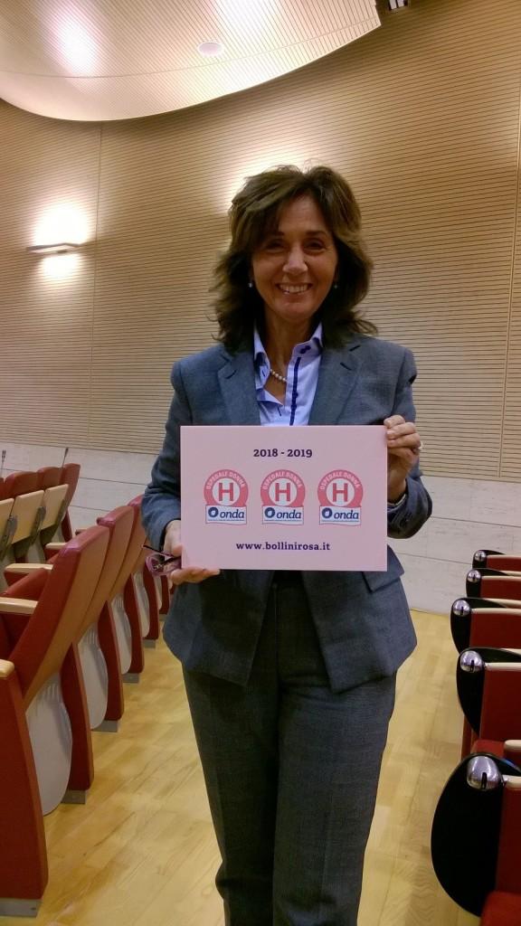 La dott.ssa Lucia Pelusi alla cerimonia di premiazione
