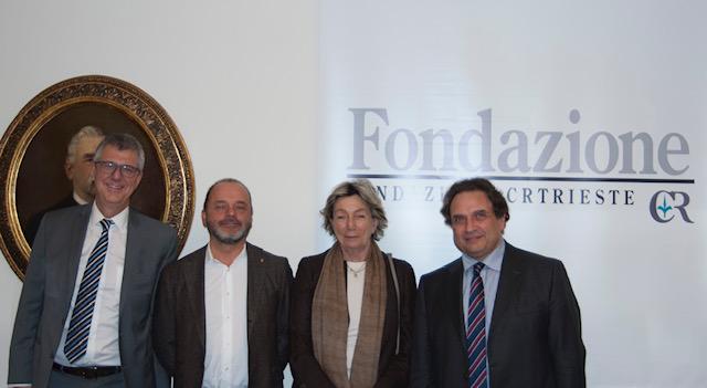 Nella foto: prof. Roberto Di Lenarda, Antonio Poggiana, Tiziana Benussi, Gianfranco Sinagra
