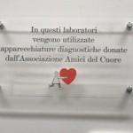 Targa di ringraziamento all'Associazione Amici del Cuore