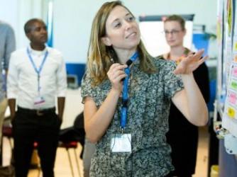 Irene Salvi durante il corso di formazione alle Nazioni Unite a Torino