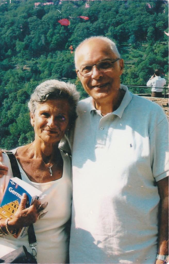 Antonio Butti con la moglie Marcella