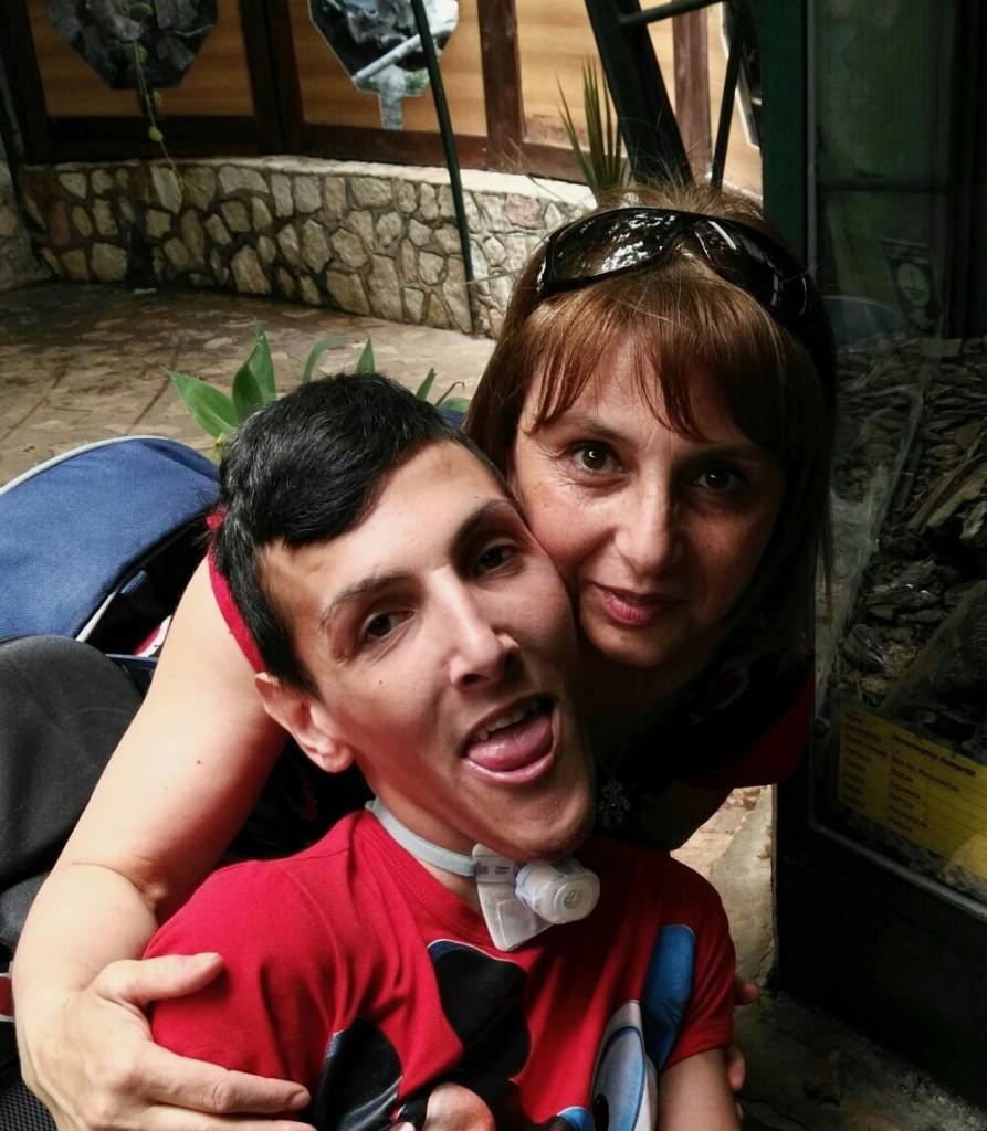 Antonella Zammito con il figlio Andrea