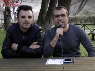 Francesco Mascolo e Michele Pilla durante il Tg
