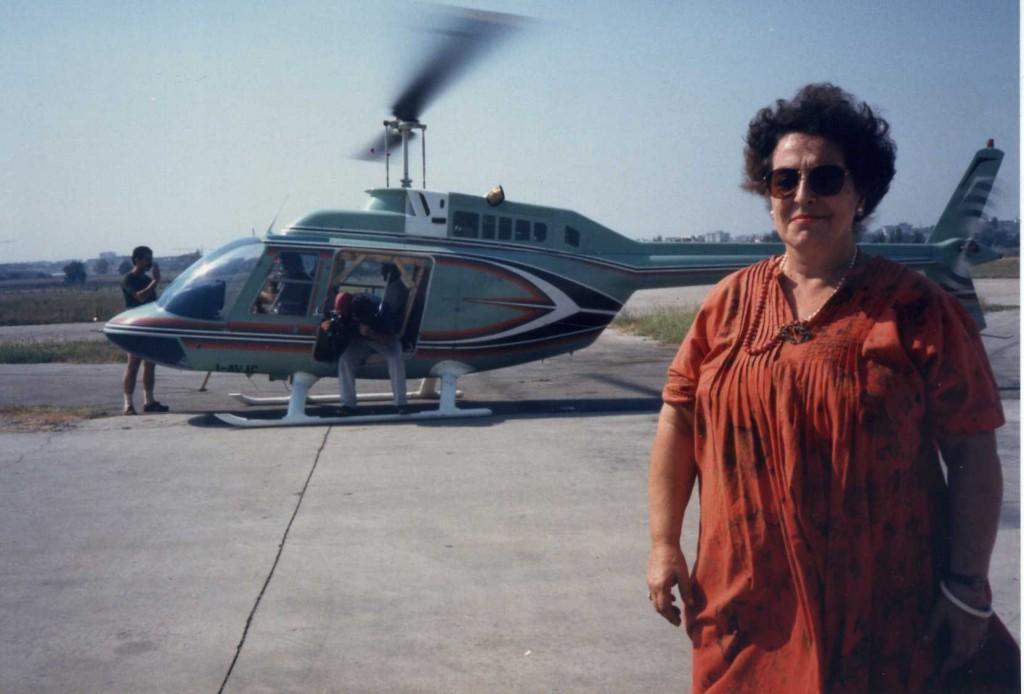 Francesca Boesch quando era responsabile di Cbs News in Italia