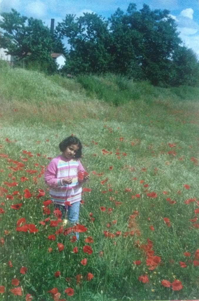 Sara da piccola in Toscana