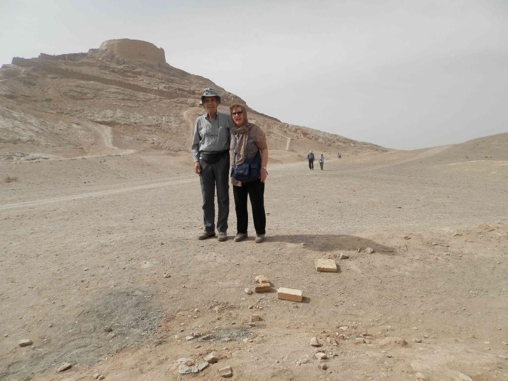 Licia e Giorgio a Persepolis durante il viaggio in Iran