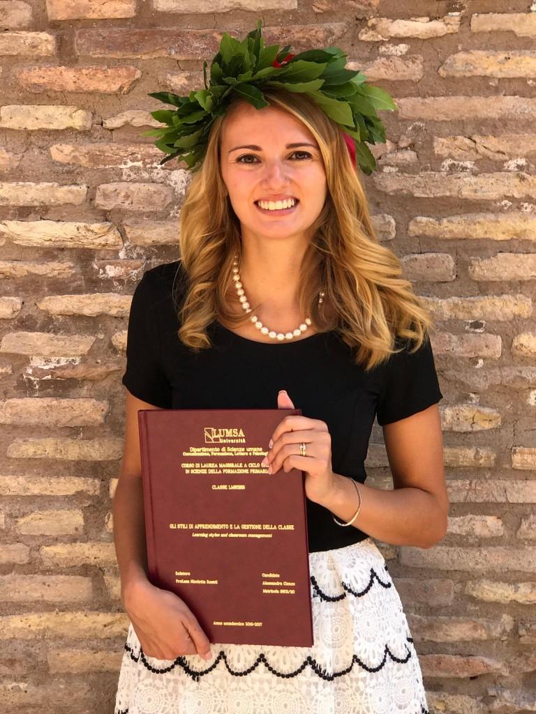 Alessandra Cionco il giorno della sua laurea