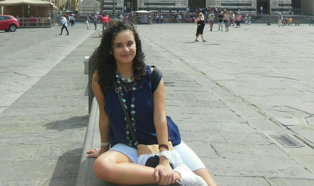 Flavia Risi qui era in gita a Firenze
