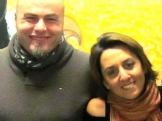 Faustino e Maria in un momento felice
