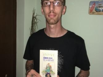 Emanuele Masina con il suo libro