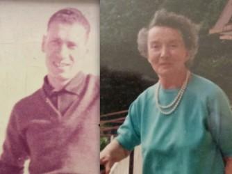 Carlo e Bruna in due vecchie foto
