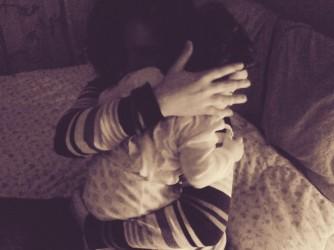 Federica con il suo bambino