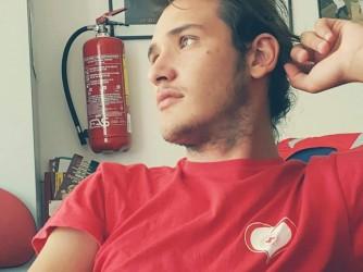 Alessio quando faceva il servizio civile nella Croce Rossa