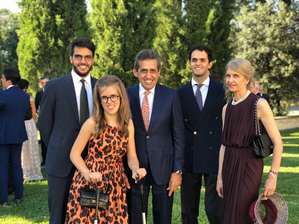 La famiglia al completo; Laura,  Ettore il babbo,  Francesco, Tommaso e Benedetta