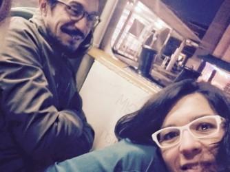 Elena e Piero alla stazione di Venezia