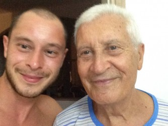 Andrea con suo nonno Rocco