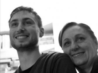 Rosella con il figlio Stefano nel giorno della sua laurea magistrale