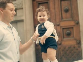 Antonello con suo padre Santino, detto Tino, in una foto di tanti anni fa