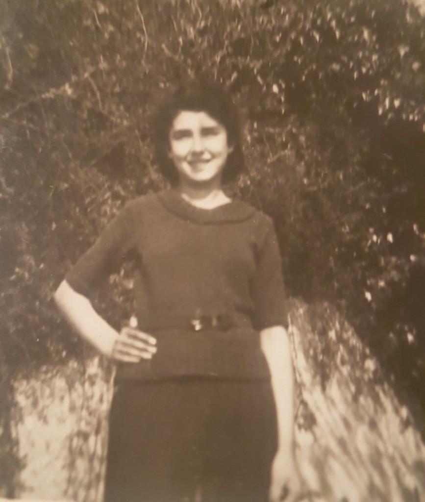 Foscarina, la mamma di Ivana, in una foto di tanti anni fa