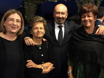 Franca con i suoi figli Maria Angela, Mauro e Luciana in una foto di due anni fa