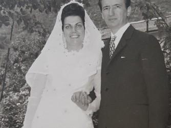 Anna Rita e Sandro il giorno del loro matrimonio nel 1969