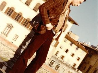 Luciano, il padre di Valentina, a Firenze tanti anni fa