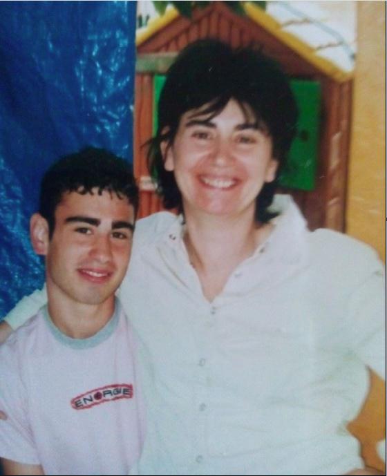 Maria Grazia e suo figlio Davide in una foto di alcuni anni fa