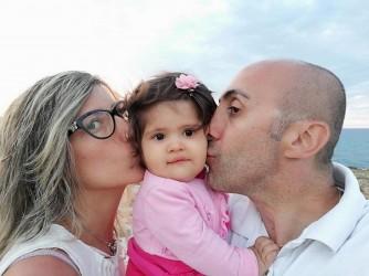Rita, Francesca e Mauro al mare
