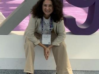 Lara a un recente congresso sull'Alzheimer a Los Angeles