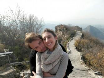 Alessandro e Irene sulla Grande Muraglia cinese