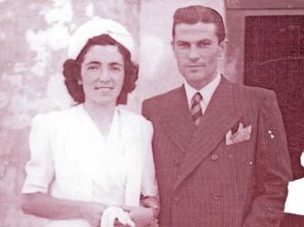 Clara e Avaldo nel giorno del loro matrimonio nel 1945