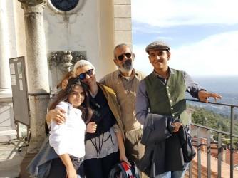 Elena con il marito Giuseppe e i figli Riccardo e Maria
