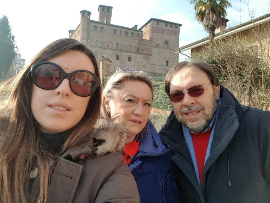 Lucia con la figlia Ginevra e il marito Giandomenico