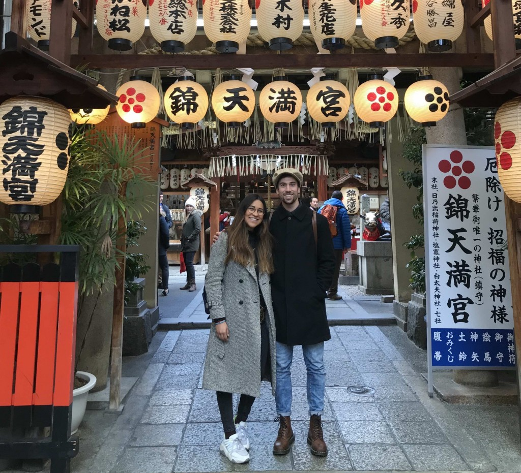 Emanuel e Daniela durante il loro viaggio a Kyoto