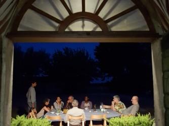 Una delle cene nella casa di campagna di Nicolini, luogo magico per momenti magici con gli amici