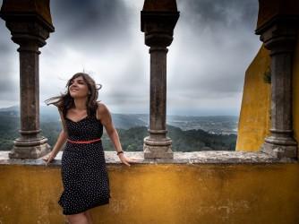 Chiara in una foto scattata a Sintra, in Portogallo, un paio di anni fa