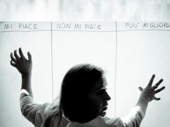 Chiara durante un workshop di progettazione collaborativa