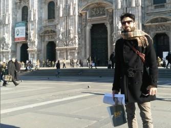 Stefano durante una gita a Milano, è cosentino di origine ma vive e lavora a Bologna