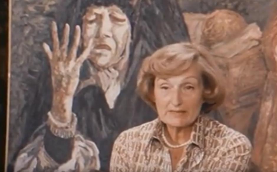 Maria Luisa in un fermo immagine di un documentario di Rai Storia