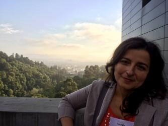 Consiglia fotografata a Berkeley, in California, dove era andata per lavoro