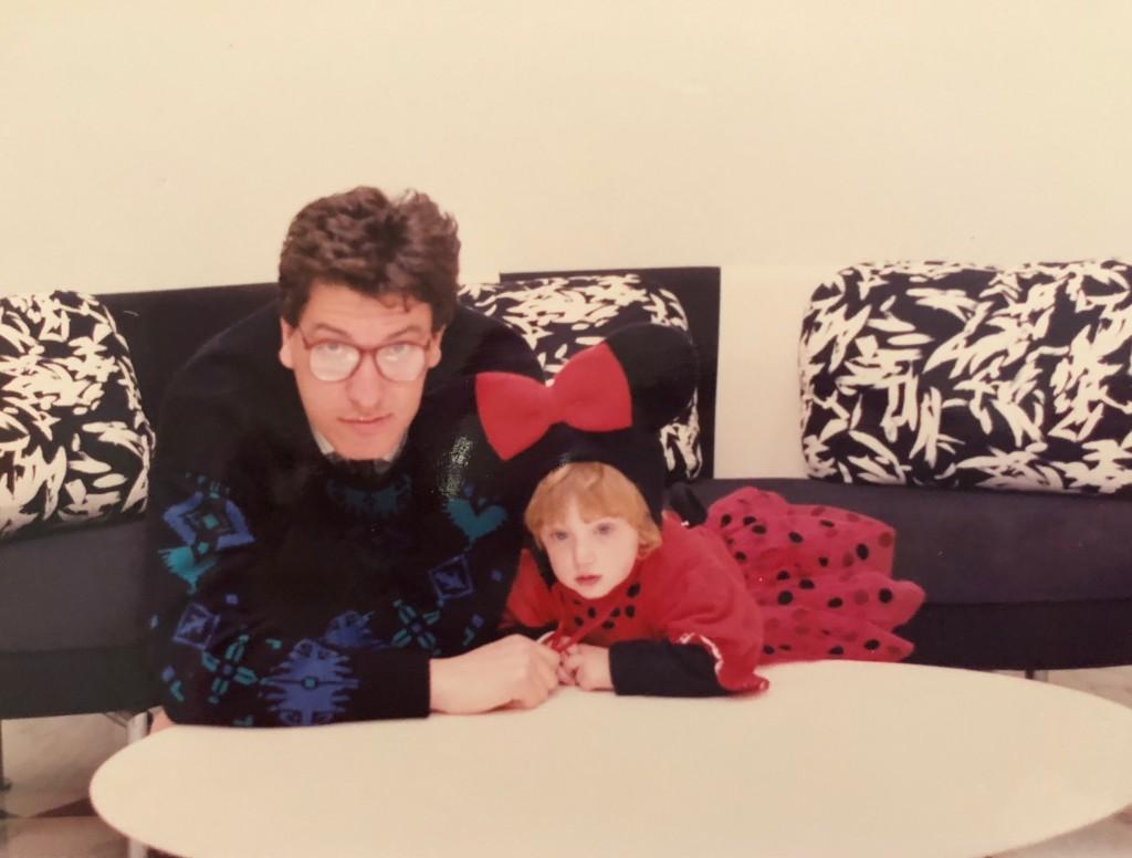 Federica con suo padre Gianni in una foto del 1989, 32 anni fa